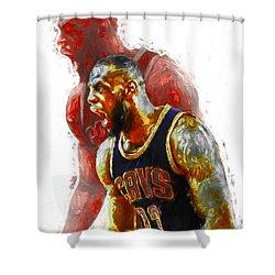 Lebron James 23 1 Cleveland Cavs Digital Painting Shower Curtain