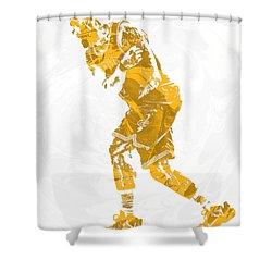 Lebron James Cleveland Cavaliers Pixel Art 13 Shower Curtain