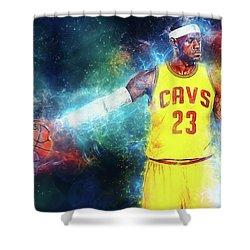 Lebron James Shower Curtain