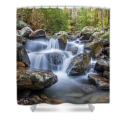 Leconte Creek Watrefall Shower Curtain