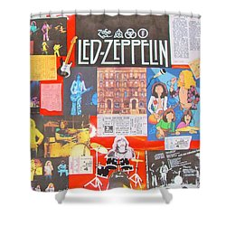 Led Zeppelin Color Collage Shower Curtain