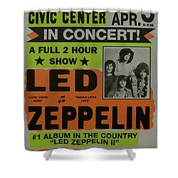 Led Zeppelin Live In Concert At The Baltimore Civic Center Poster Shower Curtain