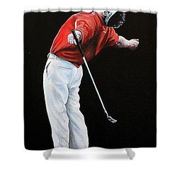 Lee Westwood Shower Curtain by Mark Robinson