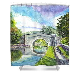 Leeds Canal Liverpool Shower Curtain by Carol Wisniewski