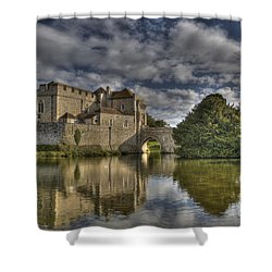 Leeds Castle Reflections Shower Curtain
