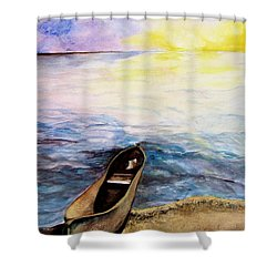 Left Alone Shower Curtain by Lil Taylor