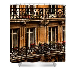 Left Bank Balconies Shower Curtain