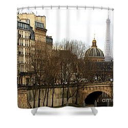 Left Bank View Shower Curtain