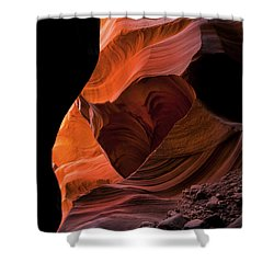 Left By Floodwaters Shower Curtain by Mike  Dawson