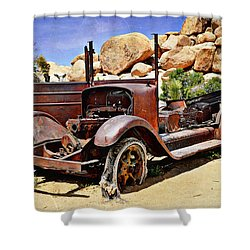 Left For Dead - Joshua Tree National Park Shower Curtain