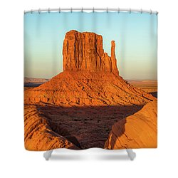 Left Mitten Sunset - Monument Valley Shower Curtain