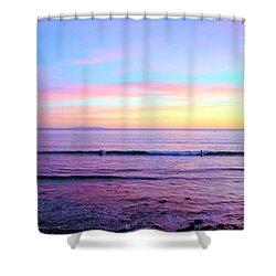 Left Right Sunset Shower Curtain