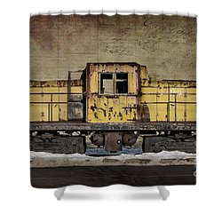 Left To Rust Shower Curtain by Judy Wolinsky