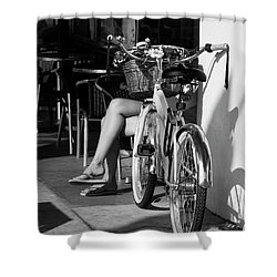 Leg Power - B And W Shower Curtain