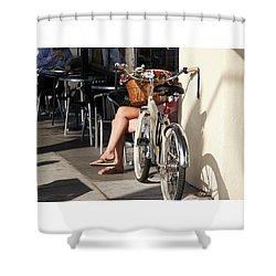 Leg Power - On Montana Avenue Shower Curtain