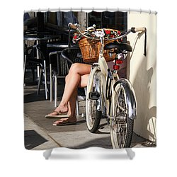 Leg Power - On Montana Avenue Shower Curtain