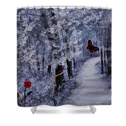 Legend Of A Girl Child Shower Curtain by Stanza Widen