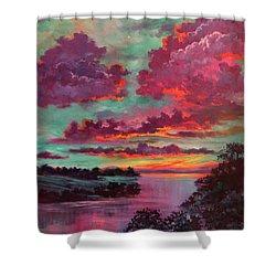Legend Of A Sunset Shower Curtain