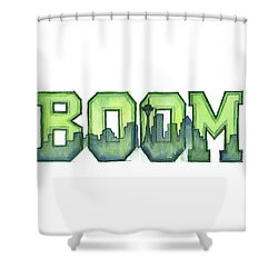 Legion Of Boom Shower Curtain by Olga Shvartsur