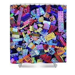 Legos Shower Curtain by Barbara Berney