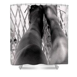 Legs Shower Curtain by Deborah  Crew-Johnson