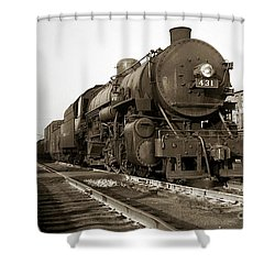 Lehigh Valley Steam Locomotive 431 At Wilkes Barre Pa. 1940s Shower Curtain