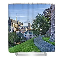 Leiden, The Church And The Castle Shower Curtain