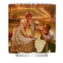 Leighton Edmund Blair Courtship Shower Curtain