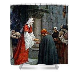 Leighton Edward Blair Charity Of St Elizabeth Of Hungary Shower Curtain