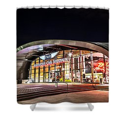 Shower Curtain featuring the photograph Lemay Car Museum - Night 1 by Rob Green
