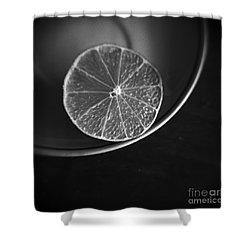 Lemon Shower Curtain by Andrey  Godyaykin