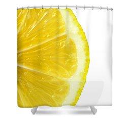 Lemon Close Up Shower Curtain by Deyan Georgiev