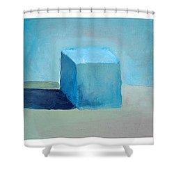 Lemon Cube Sphere Shower Curtain