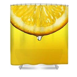 Lemon Drop Shower Curtain by Mark Rogan