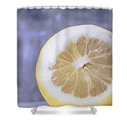 Lemon Half Shower Curtain by Edward Fielding