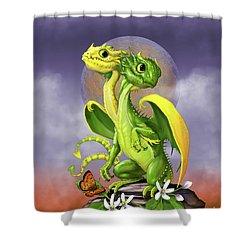 Lemon Lime Dragon Shower Curtain