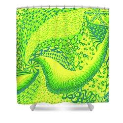 Lemon Lime Shower Curtain by Kim Sy Ok