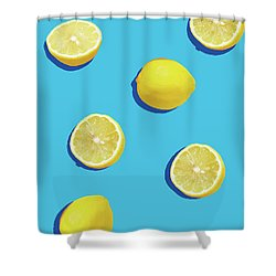 Lemon Pattern Shower Curtain by Rafael Farias