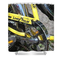 Lemon Peeler Shower Curtain by Lauri Novak