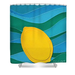 Lemon Slice Shower Curtain