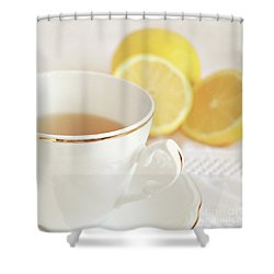 Shower Curtain featuring the photograph Lemon Tea by Lyn Randle