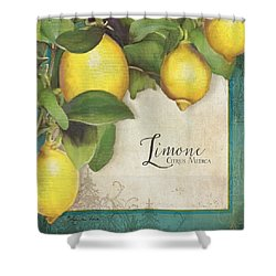 Lemon Tree - Limone Citrus Medica Shower Curtain by Audrey Jeanne Roberts
