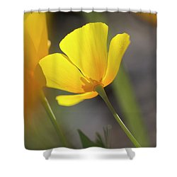 Lemon Yellow Shower Curtain