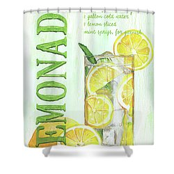 Shower Curtain featuring the painting Lemonade by Debbie DeWitt