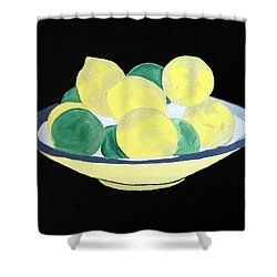 Lemons And Limes In Bowl Shower Curtain
