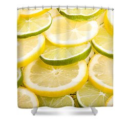 Lemons And Limes Shower Curtain by James BO  Insogna