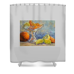 Lemons And Oranges Shower Curtain