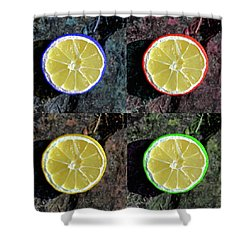 Lemons Shower Curtain by Rob Hawkins