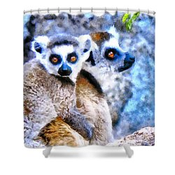 Lemurs Of Madagascar Shower Curtain by Maciek Froncisz