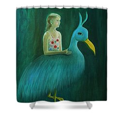 Shower Curtain featuring the painting Lend Me Your Strength by Tone Aanderaa